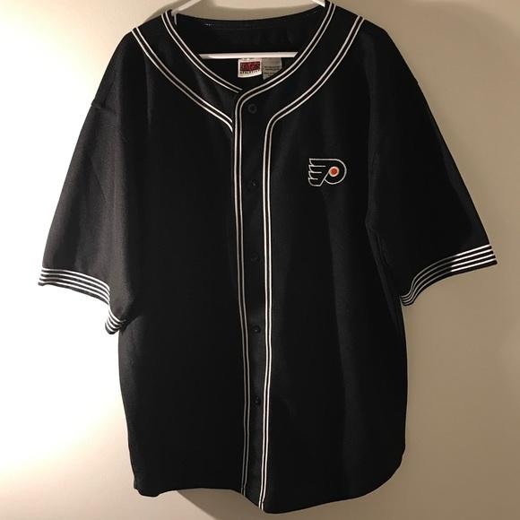 huge selection of 0108b fbdf4 Philadelphia Flyers Baseball Jersey